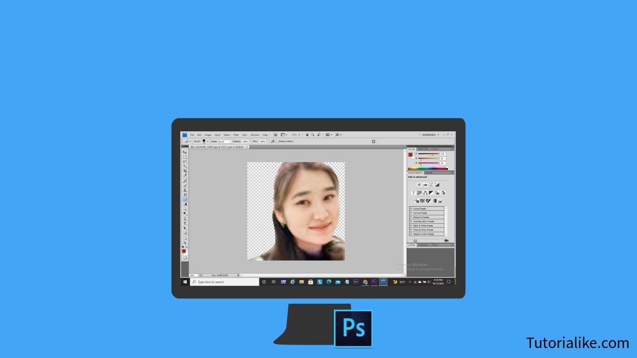 Cara Hapus Background Foto/Gambar Di Photoshop, 14 Langkah