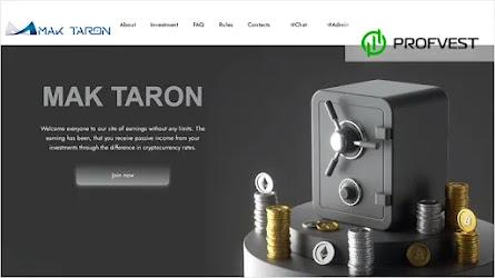 🥇Mak-Taron.io: обзор и отзывы [Кэшбэк 5% + Страховка 300$]