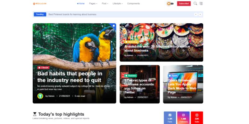Mẫu website blog cho cá nhân đẹp miễn phí
