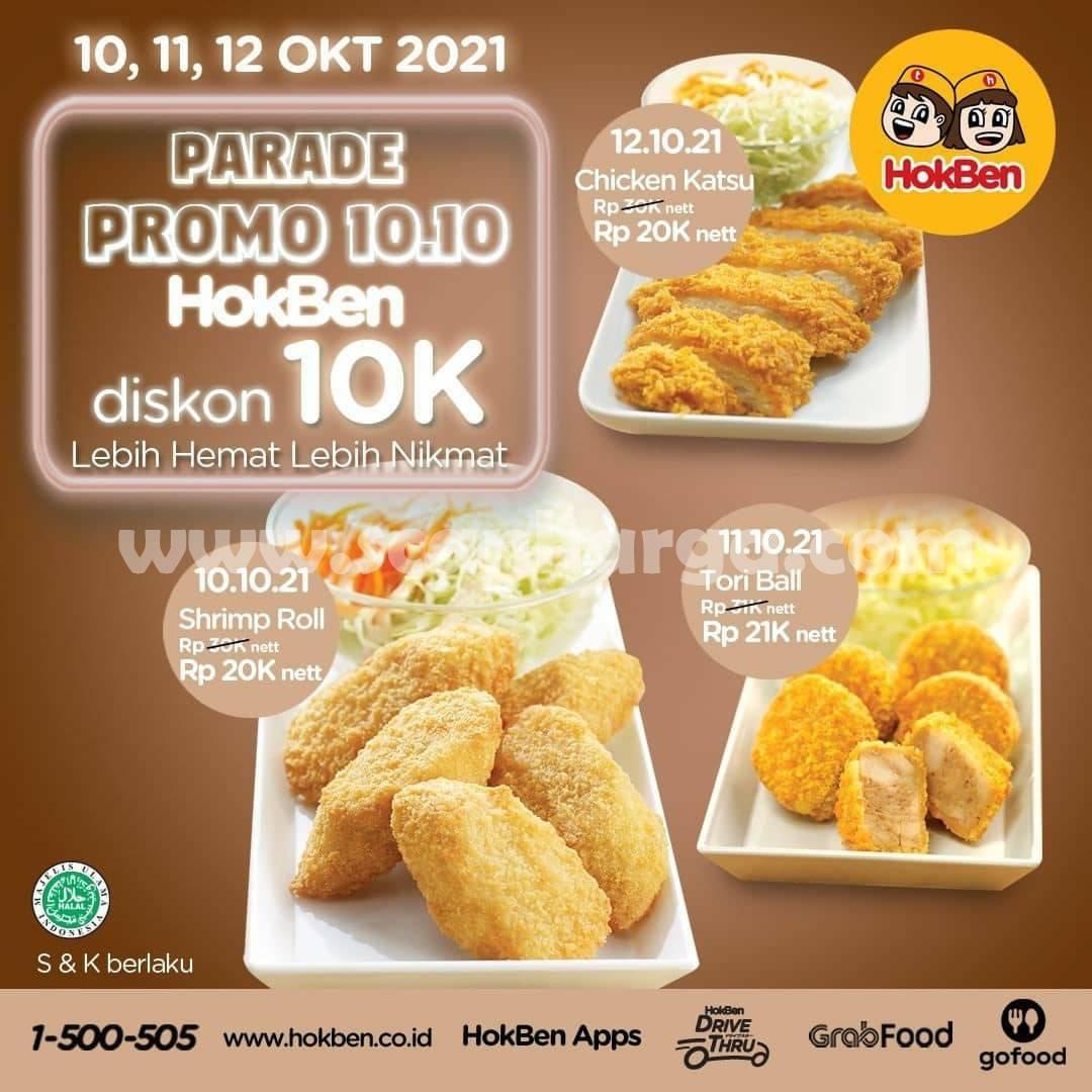 Promo HOKBEN 10 - 12 Oktober 2021 - Kejutan Spesial Parade Promo 10.10 Diskon 10K