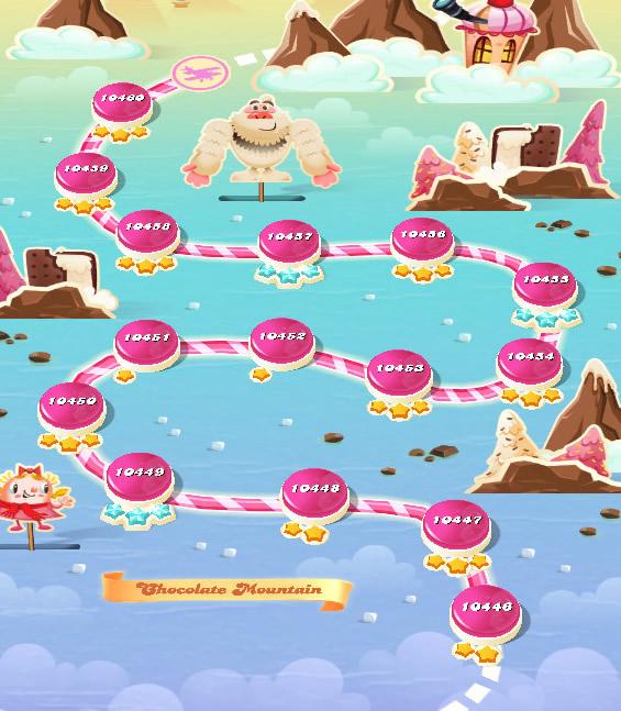 Candy Crush Saga level 10446-10460