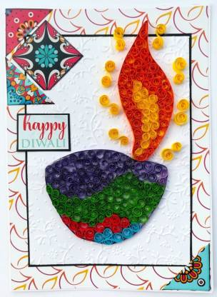 handmade diwali greeting card_uptodatedaily