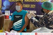 Jelang Harkesal Vaksinator Maritim Lanal Mataram Serbu Kantor Desa Labuhan Lombok