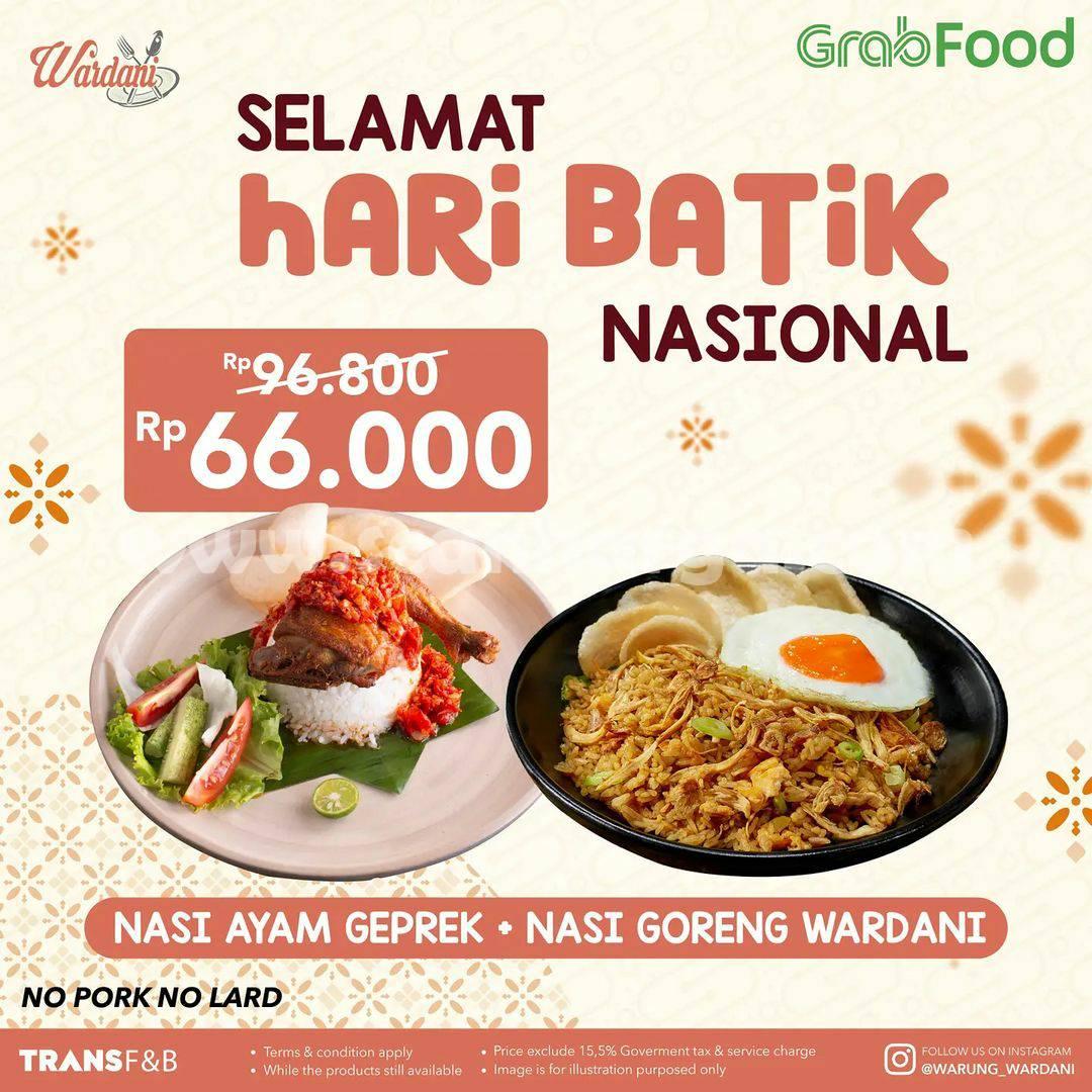 Promo Warung Wardani Hari Batik Nasional - Beli 1 Gratis 1