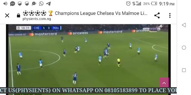 ⚽⚽⚽⚽ 🏆 Champions League Chelsea Vs Malmoe Live HD⚽⚽⚽⚽