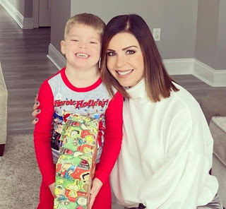 Melissa Mack with her son Jetta Myers