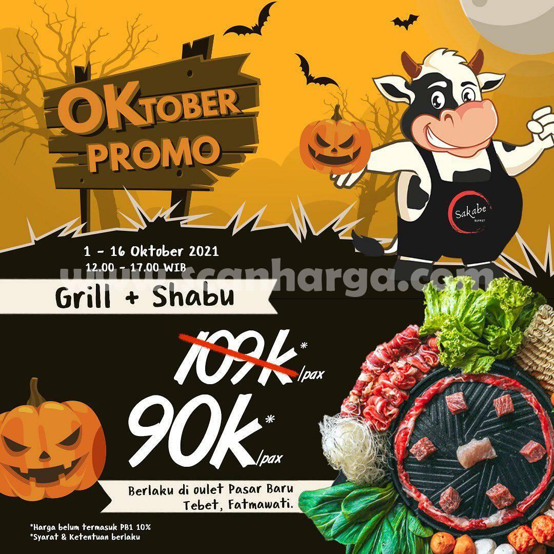 Promo SAKABE All You Can Eat GRILL + SHABU hanya Rp. 90.000++