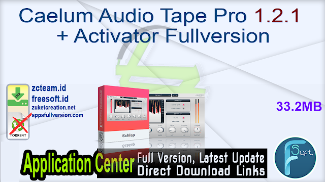 Caelum Audio Tape Pro 1.2.1 + Activator Fullversion