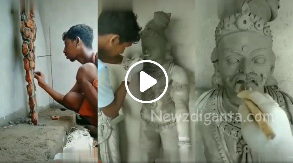 """""""சாமி சிலை எப்படி தத்ரூபமா செய்றாங்க பாருங்க !!"""