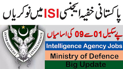 ISI Intelligence Agency Jobs 2021 in Pakistan - Ministry of Defence Jobs