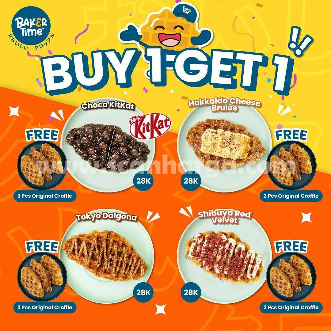 Promo Baker Time Buy 1 Get 1 (Harga Spesial 4 Croffle cuma Rp. 28.000)