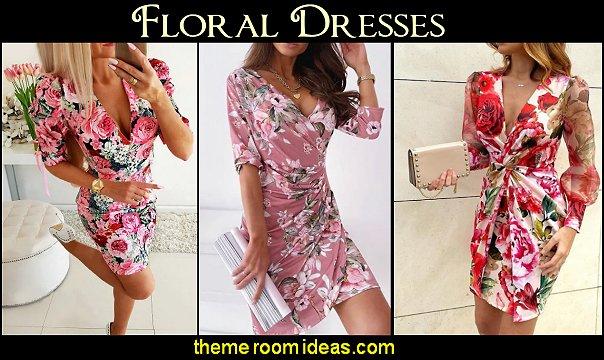 floral dresses womens dress womens fashion flower print dress