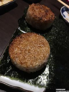 龍蝦鮭魚烤飯糰與明太子烤飯糰