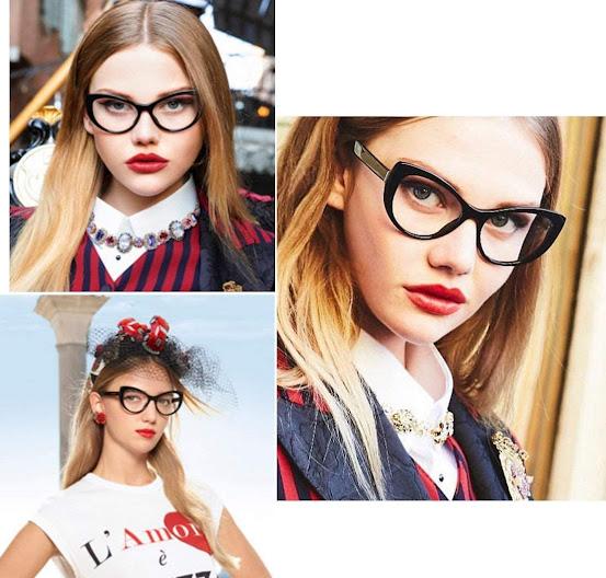 Black Clear Cat Eye Glasses for Women