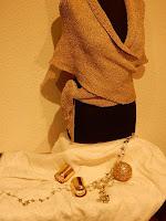 Vestje voor bruid gebreidesjaals.