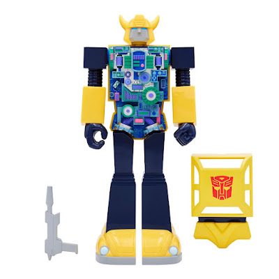 Transformers Super Cyborg Bumblebee Generation 1 Edition & X-Ray Edition Action Figures by Super7