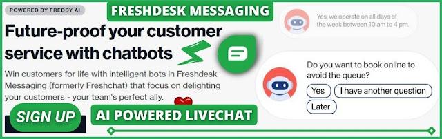 Freshdesk Messaging, AI Live Chat & Chat Bot