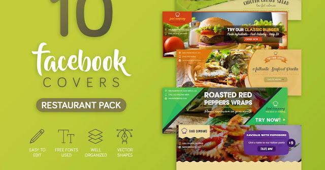 Bìa Facebook nhà hàng quán ăn