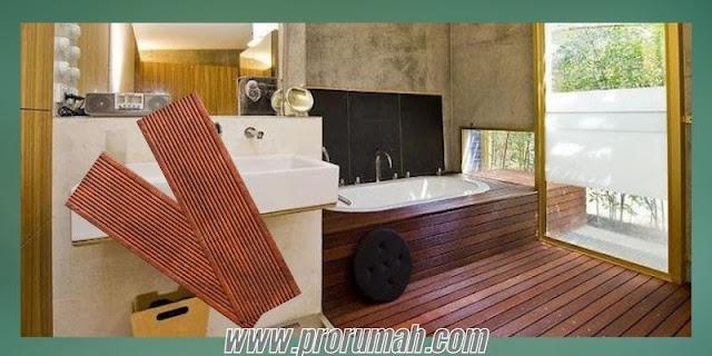 Jenis-jenis Lantai Kayu Tahan Air Berbahan Kayu Solid untuk Kamar Mandi - decking kayu merbau