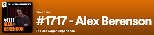 Akex Berenson Joe Rogan Experience