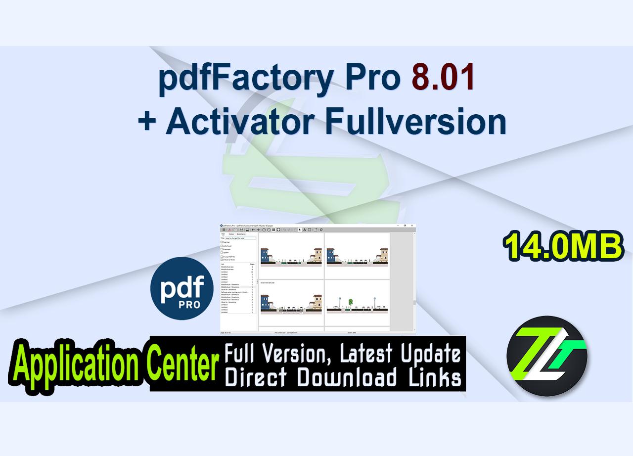 pdfFactory Pro 8.01 + Activator Fullversion