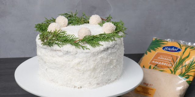 Receita Bolo de Neve