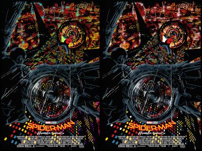 New York Comic Con 2021 Exclusive Spider-Man Homecoming Screen Print by Raid71 (Chris Thornley) x Grey Matter Art x Marvel