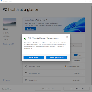 بتنزيل أداة فحص حالة الكمبيوتر PC Health Check الرسمية من Microsoft