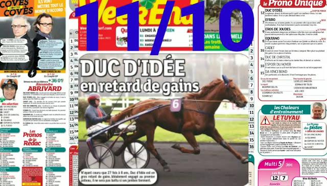 programme quinté+ Pronostic quinté Lundi 11/10/2021