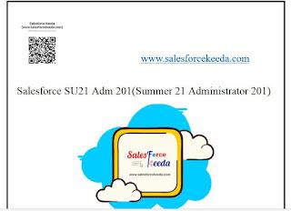 Salesforce Summer 21 (SU21) Adm 201 Dumps