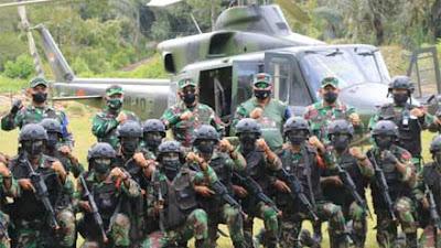 Pangdam I/BB dan Danpuslatpur Tinjau Latihan YTP R-100/PS dengan Helikopter