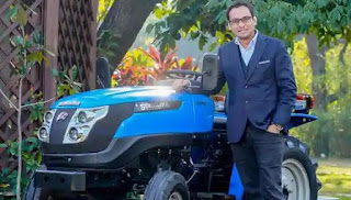 Bazar Plus Sonalika Introduces farmer friendly 'Sonalika Agro Solutions tractor and  implement rental app' to increase farmer's access to advanced machinery Raman mittal with tiger electric tractor