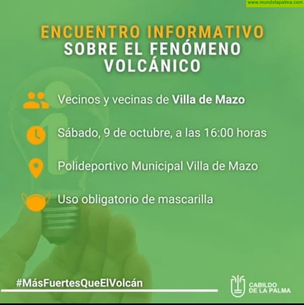 Charlas informativas sobre el fenómeno volcánico con los vecinos de Villa de Mazo y Fuencaliente