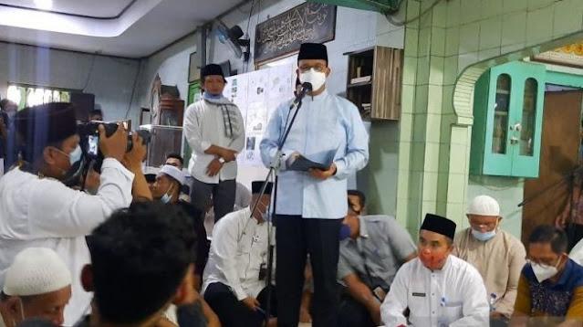 Revitalisasi Masjid Al Mansyur Tambora, Anies: Ini Tempat Perjuangan