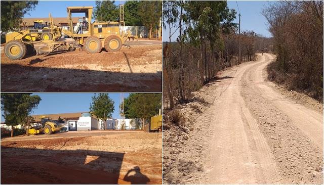 Prefeitura de Seabra realiza recuperação de estradas vicinais que liga Velame a Capão da Gamela e Serra do Queimadão.