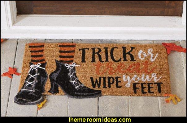 Halloween Witch Trick or Treat Doormat halloween decorations