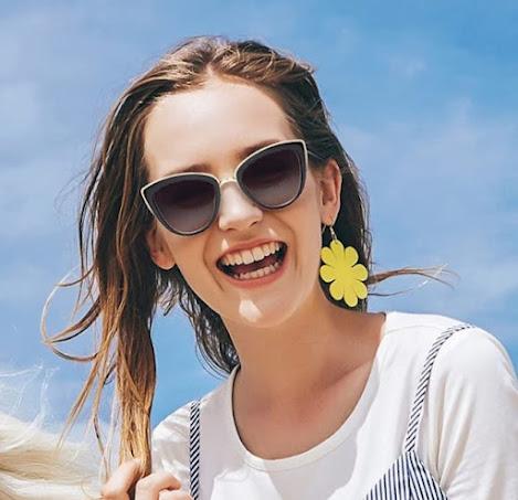 Cute Oversized Cat Eye Sunglasses For Women