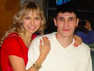 Picture of Julia Ilyasova with her spouse Ersan Ilyasova