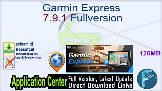 Garmin Express 7.9.1 Fullversion