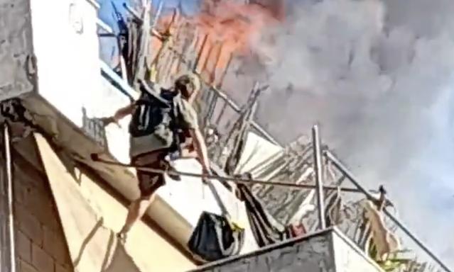 Φωτιά σε πολυκατοικία στον Κολωνό:  Ένοικος ξέφυγε τελευταία στιγμή (βίντεο)