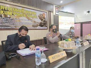Polres Enrekang Terima Penyuluhan dan Sosialisasi Hukum dari Bidkum Polda Sulsel