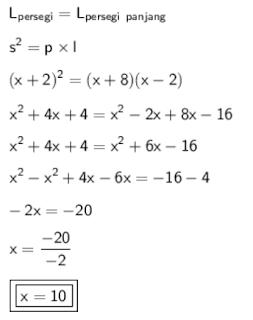 Menentukan nilai x www.jawabanbukupaket.com