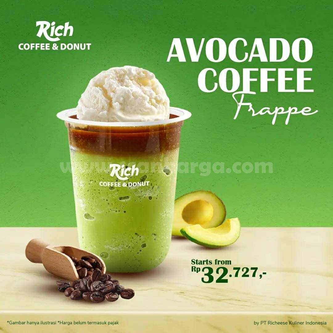 Promo Rich Coffee & Donut NEW AVOCADO hanya Rp. 32.727