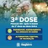 Calendário da 3 dose de vacina contra Covid-19 em Registro-SP