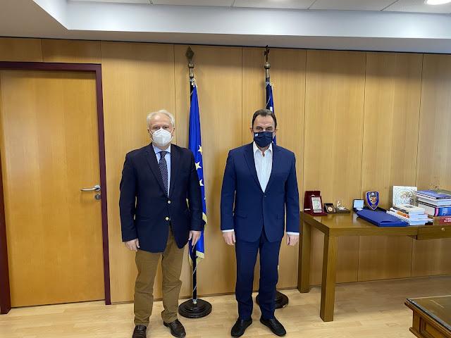 Συνάντηση Ανδριανού με Γεωργαντά για τα προβλήματα λειτουργίας των ΕΛΤΑ