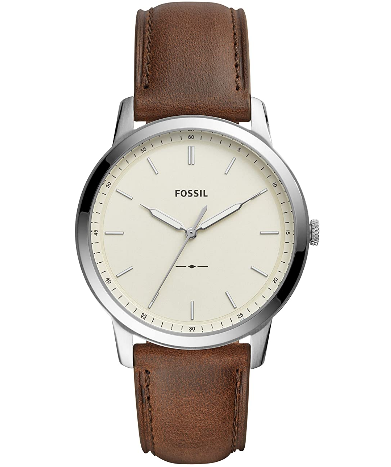stainless steel slim leather watch