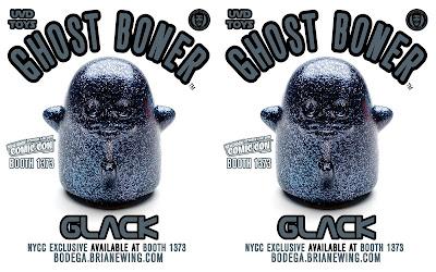 New York Comic Con 2021 Exclusive Ghost Boner GLACK Edition Vinyl Figure by Brian Ewing x UVD Toys