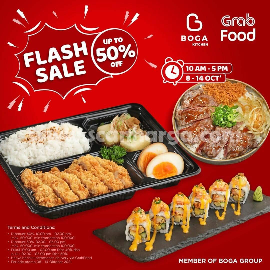 Promo BOGA KITCHEN Flash Sale Grabfood Diskon 50%