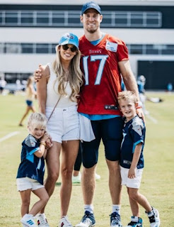 Ryan Tannehill with his wife Lauren Tannehill & their 2 kids