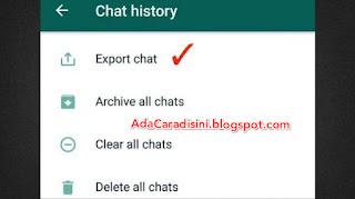 Cara sadap chat whatsapp via export chat
